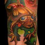 Интересный вариант готовой наколки жук – рисунок подойдет для тату жука скарабей