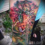 Классный вариант существующей татуировки жук – рисунок подойдет для тату майский жук