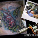 Крутой пример существующей наколки жук – рисунок подойдет для тату жук скарабей