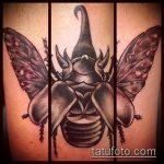 Зачетный вариант готовой тату жук – рисунок подойдет для тату жук на плече