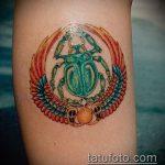 Зачетный пример нанесенной тату жук – рисунок подойдет для тату жук олень