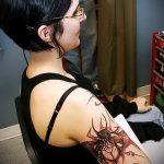 Зачетный вариант готовой наколки жук – рисунок подойдет для тату жук олень
