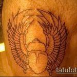 Уникальный вариант существующей тату жук – рисунок подойдет для тату жук скарабей