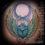 Прикольный пример готовой татуировки жук – рисунок подойдет для тату жуки
