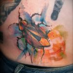 Интересный вариант существующей тату жук – рисунок подойдет для тату жук скоробей