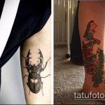 Зачетный вариант существующей наколки жук – рисунок подойдет для тату жук ёжик
