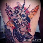 Прикольный пример выполненной татуировки жук – рисунок подойдет для тату жук на руке