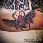Крутой пример готовой тату жук – рисунок подойдет для тату жука скарабей