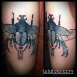 Зачетный вариант выполненной тату жук – рисунок подойдет для тату жука скарабея