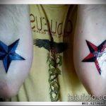 Уникальный пример готовой татуировки звезды на локтях – рисунок подойдет для тату звезды на локтях рук