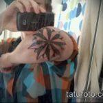 Оригинальный вариант нанесенной татуировки звезды на локтях – рисунок подойдет для тату звезды на локтях рук