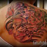Зачетный вариант готовой тату золотая рыбка – рисунок подойдет для тату золотая рыбка на спине