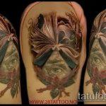Прикольный вариант готовой наколки ирис – рисунок подойдет для тату ирис на ноге