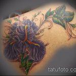 Оригинальный пример готовой тату ирис – рисунок подойдет для тату ирис черный