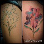 Оригинальный вариант существующей татуировки ирис – рисунок подойдет для тату ириса цветка