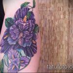 Зачетный вариант готовой татуировки ирис – рисунок подойдет для тату ирисы на руке