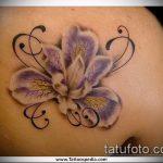 Интересный вариант нанесенной татуировки ирис – рисунок подойдет для тату ирис на зоне