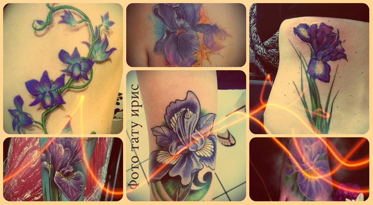 Фото тату ирис - достойные примеры как основа для своей татуировки