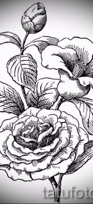 Достойный вариант татутатуировки камелия на фотографии для материала про толкование рисунка цветка камелии в татуировке