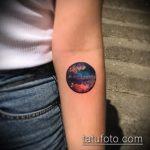 Классный вариант нанесенной наколки круг – рисунок подойдет для тату в форме круга
