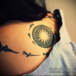 Зачетный пример выполненной татуировки круг – рисунок подойдет для тату пейзаж круге