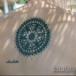 Классный пример выполненной татуировки круг – рисунок подойдет для тату узоры круг