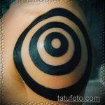 Уникальный вариант существующей тату круг – рисунок подойдет для тату круг перьями