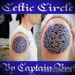 Зачетный вариант нанесенной татуировки круг – рисунок подойдет для лев круге тату