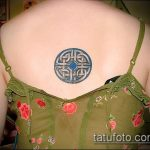 Уникальный вариант готовой наколки круг – рисунок подойдет для тату круг на запястье