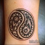 Крутой пример нанесенной тату круг – рисунок подойдет для тату в форме круга