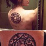 Оригинальный вариант готовой татуировки круг – рисунок подойдет для тату кельтский круг
