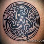 Классный пример готовой татуировки круг – рисунок подойдет для тату узоры круг