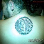 Прикольный вариант выполненной тату круг – рисунок подойдет для тату круг на запястье
