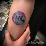 Классный вариант готовой тату круг – рисунок подойдет для тату в кругу друзей