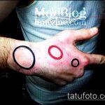 Зачетный пример существующей татуировки круг – рисунок подойдет для тату круге плече