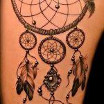 Прикольный вариант выполненной тату круг – рисунок подойдет для тату звезда в круге