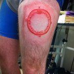 Классный вариант готовой татуировки круг – рисунок подойдет для тату круг на запястье