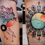 Крутой пример готовой тату круг – рисунок подойдет для тату круге плече