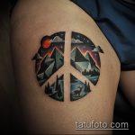 Оригинальный вариант существующей татуировки круг – рисунок подойдет для тату в форме круга