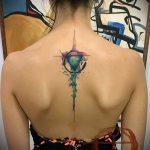 Прикольный пример существующей татуировки круг – рисунок подойдет для тату круг на запястье
