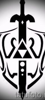 Идея удачной тату щит и меч для публикации про историю тату щит с мечем