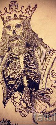 Фотография классной татуировки щит и меч для публикации про толкование тату щит с мечем