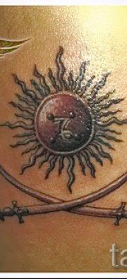 Идея крутой татуировки щит и меч для заметки про историю тату щит с мечем