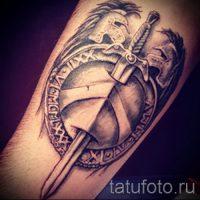 Значение тату щит и меч