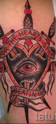Вариант интересной тату щит и меч для публикации про историю тату щит с мечем