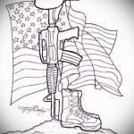 Крутой вариант эскиза тату армейская – рисунок подойдет для армейские татуировки морские