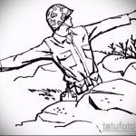 Уникальный вариант эскиза тату армейская – рисунок подойдет для армейские татуировки по родам войск фото
