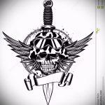 Оригинальный вариант эскиза татуировки армейская – рисунок подойдет для татуировки армейские вдв