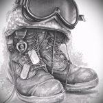 Интересный вариант эскиза наколки армейская – рисунок подойдет для армейские татуировки морские