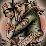 Классный пример эскиза тату армейская – рисунок подойдет для армейские татуировки вв мвд